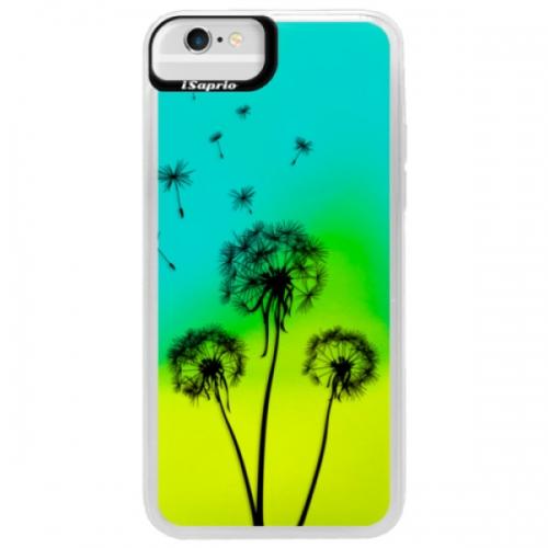 Neonové pouzdro Blue iSaprio - Three Dandelions - black - iPhone 6/6S