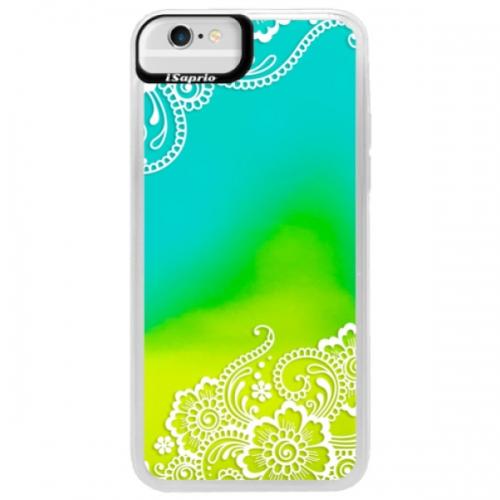 Neonové pouzdro Blue iSaprio - White Lace 02 - iPhone 6/6S