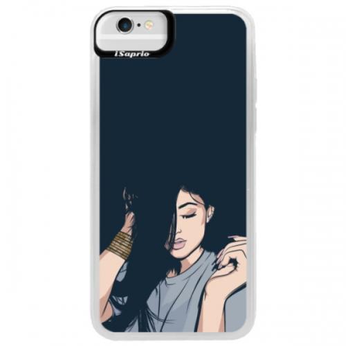 Neonové pouzdro Blue iSaprio - Swag Girl - iPhone 6/6S