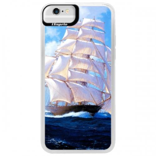 Neonové pouzdro Blue iSaprio - Sailing Boat - iPhone 6/6S