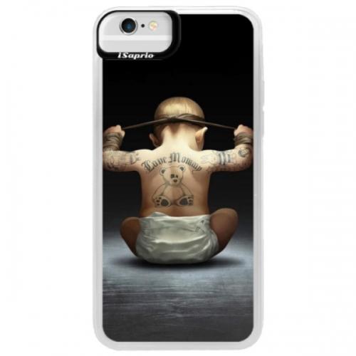 Neonové pouzdro Blue iSaprio - Crazy Baby - iPhone 6/6S