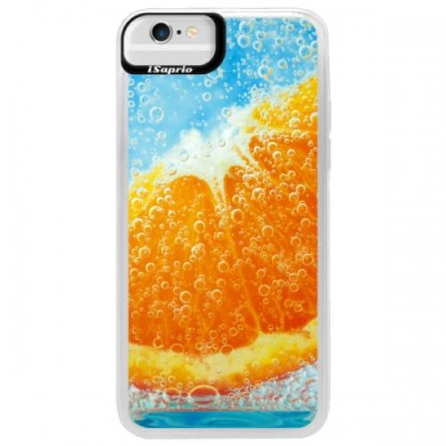 Neonové pouzdro Blue iSaprio - Orange Water - iPhone 6/6S