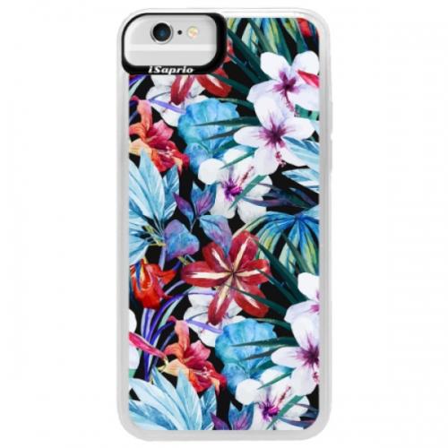 Neonové pouzdro Blue iSaprio - Tropical Flowers 05 - iPhone 6/6S