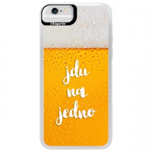 Neonové pouzdro Blue iSaprio - Jdu na jedno - iPhone 6/6S