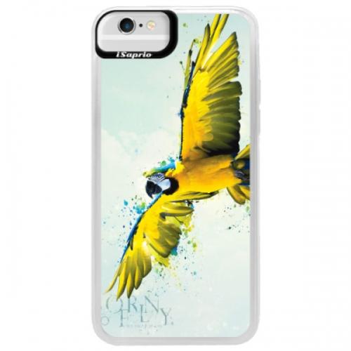 Neonové pouzdro Blue iSaprio - Born to Fly - iPhone 6/6S