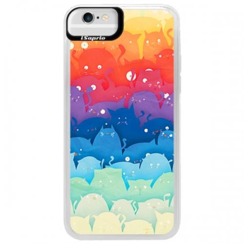 Neonové pouzdro Blue iSaprio - Cats World - iPhone 6/6S