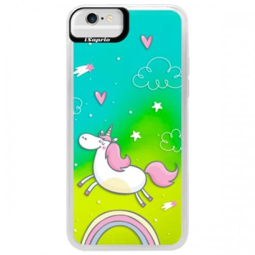Neonové pouzdro Blue iSaprio - Unicorn 01 - iPhone 6/6S