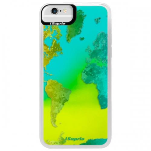 Neonové pouzdro Blue iSaprio - Cold Map - iPhone 6/6S