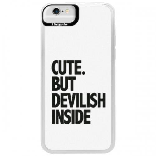 Neonové pouzdro Blue iSaprio - Devilish inside - iPhone 6/6S