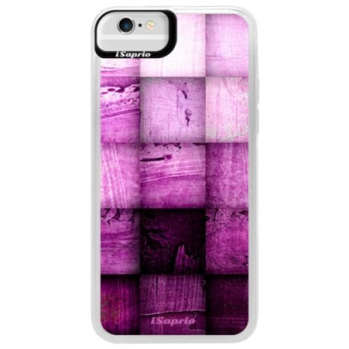Neonové pouzdro Blue iSaprio - Purple Squares - iPhone 6/6S