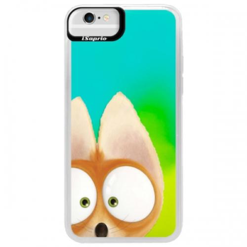 Neonové pouzdro Blue iSaprio - Fox 02 - iPhone 6/6S