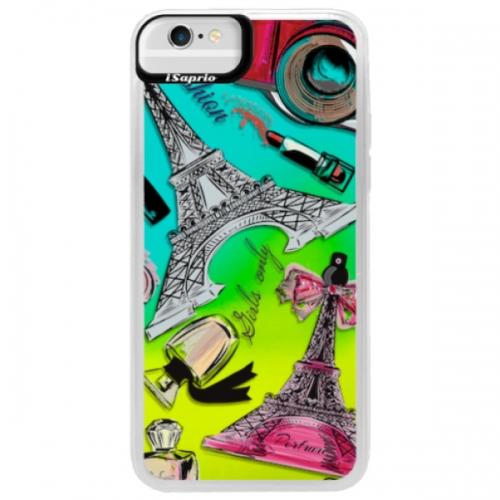 Neonové pouzdro Blue iSaprio - Fashion pattern 02 - iPhone 6/6S