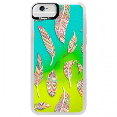 Neonové pouzdro Blue iSaprio - Feather pattern 02 - iPhone 6/6S