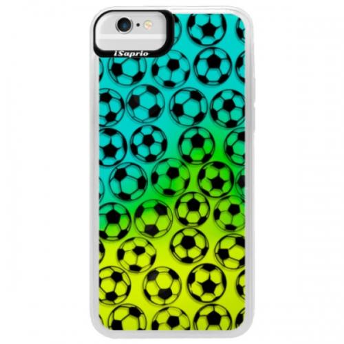 Neonové pouzdro Blue iSaprio - Football pattern - black - iPhone 6/6S