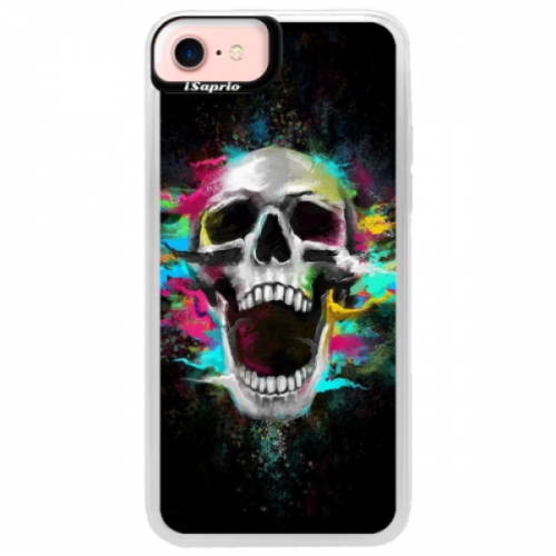 Neonové pouzdro Pink iSaprio - Skull in Colors - iPhone 7