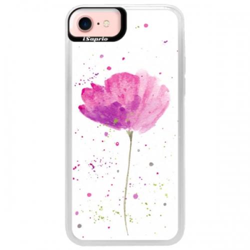 Neonové pouzdro Pink iSaprio - Poppies - iPhone 7