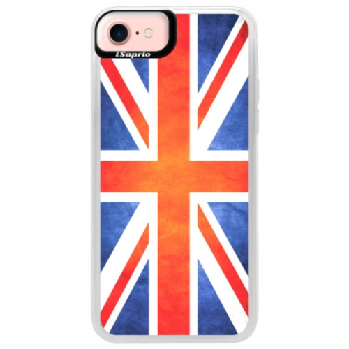 Neonové pouzdro Pink iSaprio - UK Flag - iPhone 7