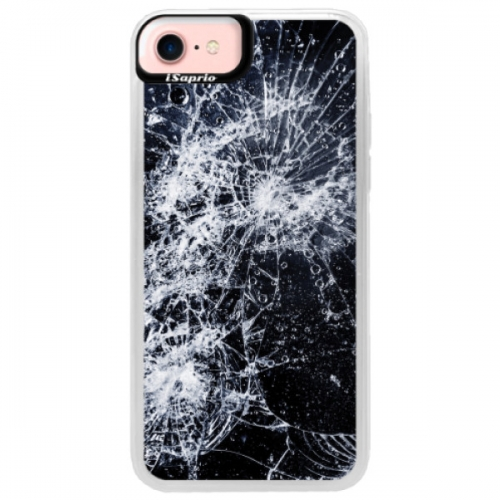 Neonové pouzdro Pink iSaprio - Cracked - iPhone 7