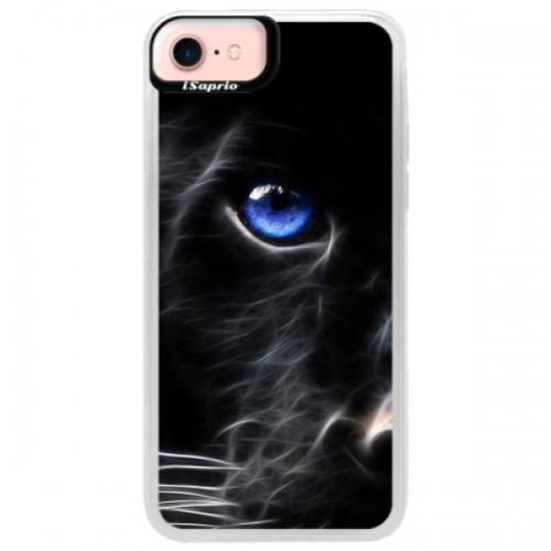 Neonové pouzdro Pink iSaprio - Black Puma - iPhone 7