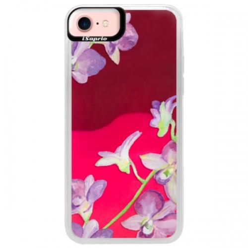 Neonové pouzdro Pink iSaprio - Purple Orchid - iPhone 7