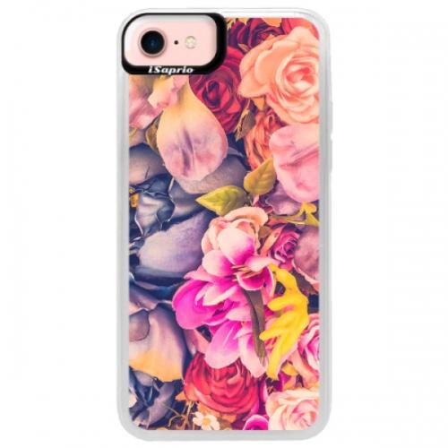 Neonové pouzdro Pink iSaprio - Beauty Flowers - iPhone 7