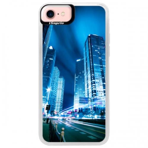 Neonové pouzdro Pink iSaprio - Night City Blue - iPhone 7