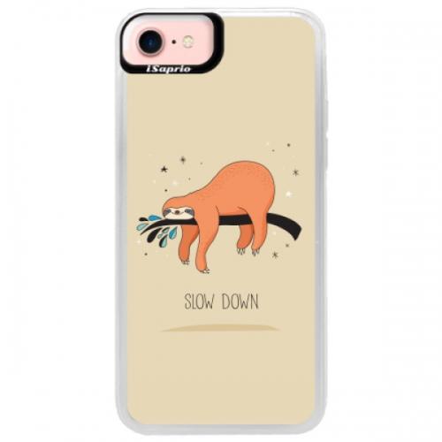 Neonové pouzdro Pink iSaprio - Slow Down - iPhone 7