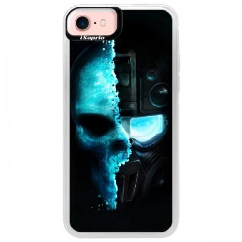 Neonové pouzdro Pink iSaprio - Roboskull - iPhone 7