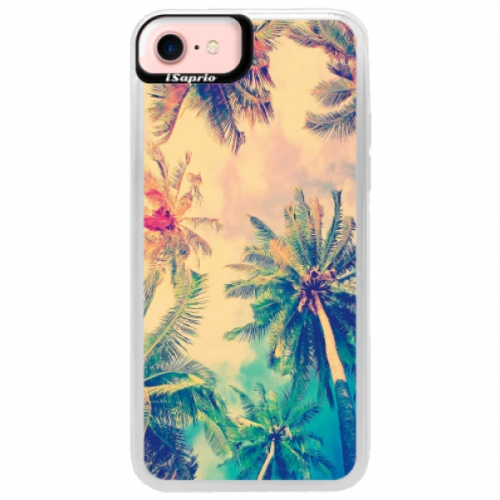 Neonové pouzdro Pink iSaprio - Palm Beach - iPhone 7
