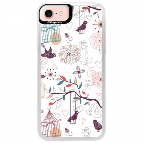 Neonové pouzdro Pink iSaprio - Birds - iPhone 7