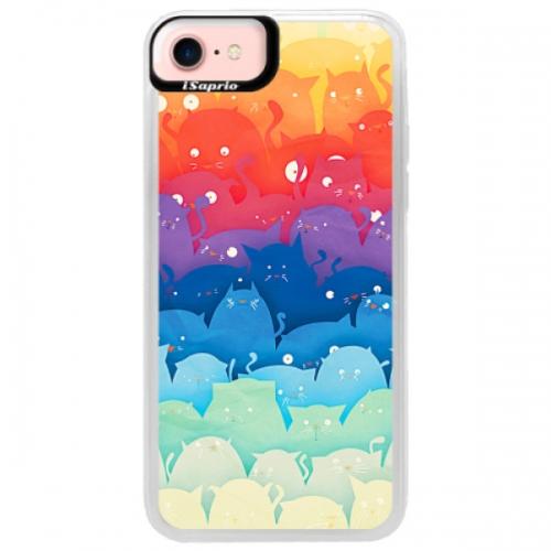 Neonové pouzdro Pink iSaprio - Cats World - iPhone 7