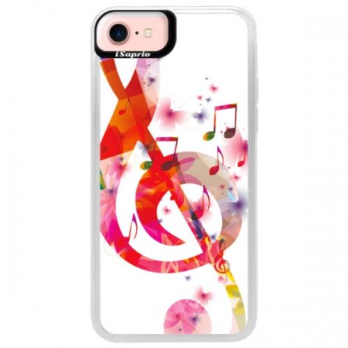 Neonové pouzdro Pink iSaprio - Love Music - iPhone 7