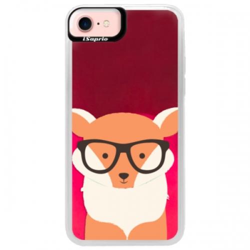 Neonové pouzdro Pink iSaprio - Orange Fox - iPhone 7