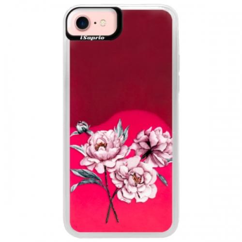 Neonové pouzdro Pink iSaprio - Poeny - iPhone 7