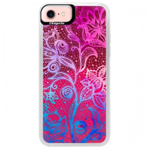 Neonové pouzdro Pink iSaprio - Color Lace - iPhone 7