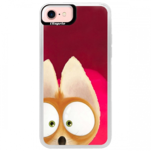 Neonové pouzdro Pink iSaprio - Fox 02 - iPhone 7