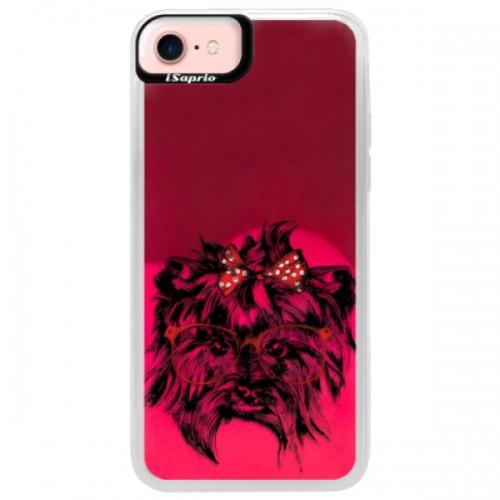 Neonové pouzdro Pink iSaprio - Dog 03 - iPhone 7