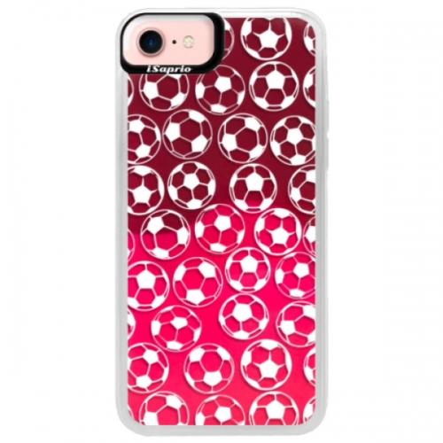 Neonové pouzdro Pink iSaprio - Football pattern - white - iPhone 7