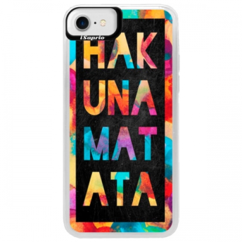 Neonové pouzdro Blue iSaprio - Hakuna Matata 01 - iPhone 7