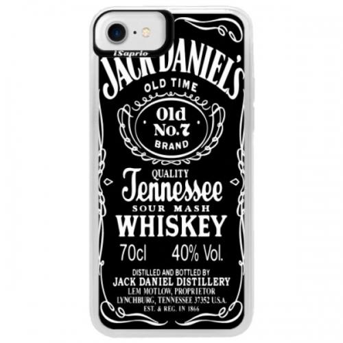 Neonové pouzdro Blue iSaprio - Jack Daniels - iPhone 7