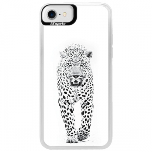 Neonové pouzdro Blue iSaprio - White Jaguar - iPhone 7