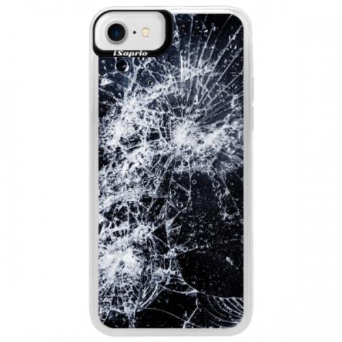 Neonové pouzdro Blue iSaprio - Cracked - iPhone 7