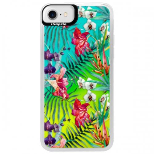 Neonové pouzdro Blue iSaprio - Flower Pattern 03 - iPhone 7