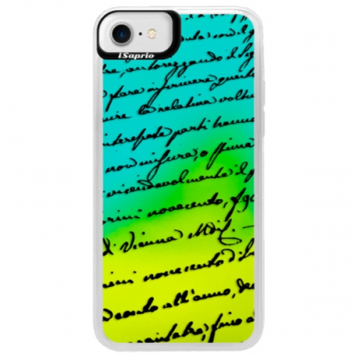 Neonové pouzdro Blue iSaprio - Handwriting 01 - black - iPhone 7
