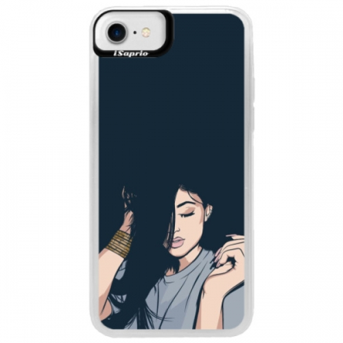 Neonové pouzdro Blue iSaprio - Swag Girl - iPhone 7