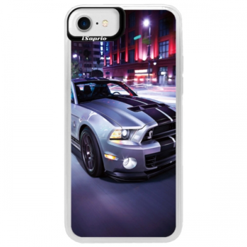 Neonové pouzdro Blue iSaprio - Mustang - iPhone 7