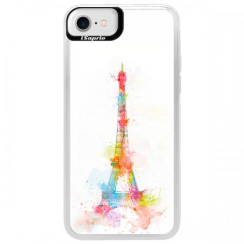 Neonové pouzdro Blue iSaprio - Eiffel Tower - iPhone 7