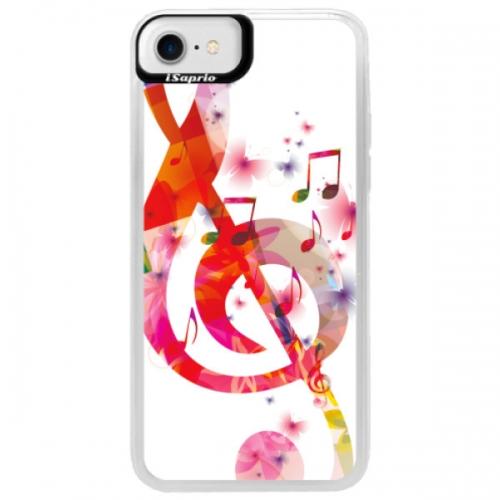 Neonové pouzdro Blue iSaprio - Love Music - iPhone 7