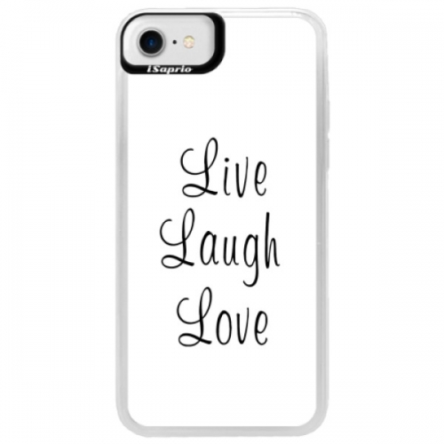 Neonové pouzdro Blue iSaprio - Live Laugh Love - iPhone 7