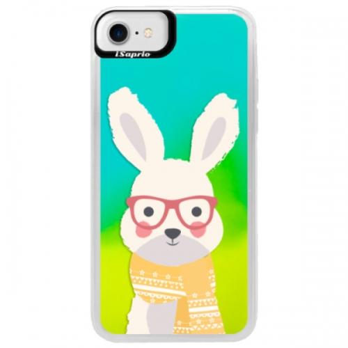 Neonové pouzdro Blue iSaprio - Smart Rabbit - iPhone 7